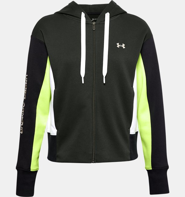 Womens UA Rival Fleece Embroidered Full Zip Hoodie