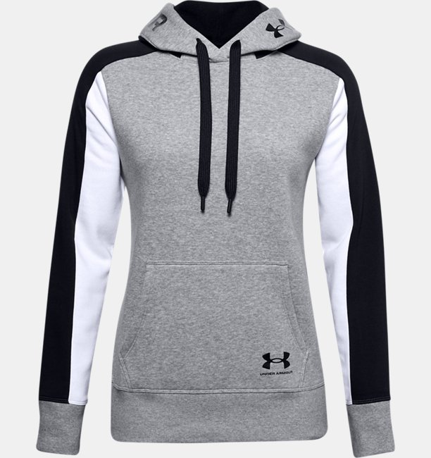 Womens UA Rival Fleece Graphic CB Hoodie