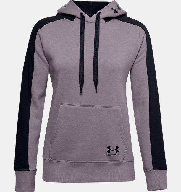 Womens UA Rival Fleece Graphic CB Hoodie