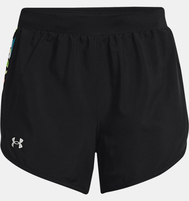 Womens UA Fly-By 2.0 Floral Shorts