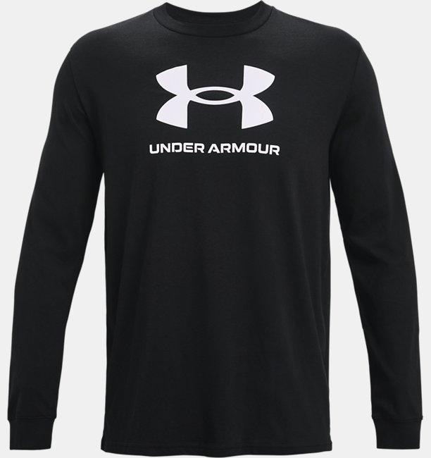 Herren UA Sportstyle Langarm-Oberteil mit Logo