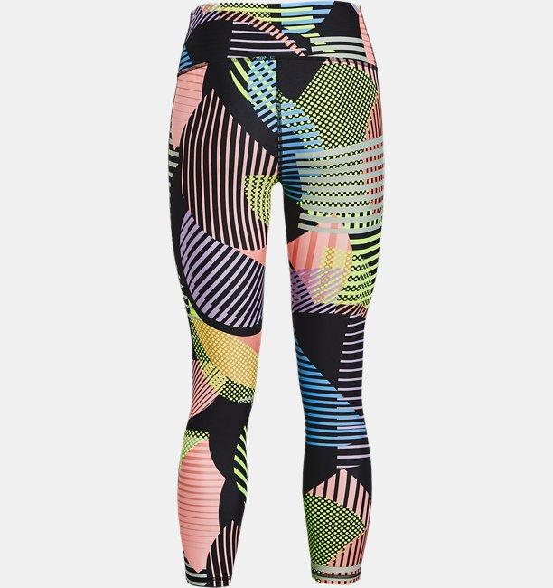 Womens HeatGear® Armour No-Slip Waistband Geo Print Ankle Leggings