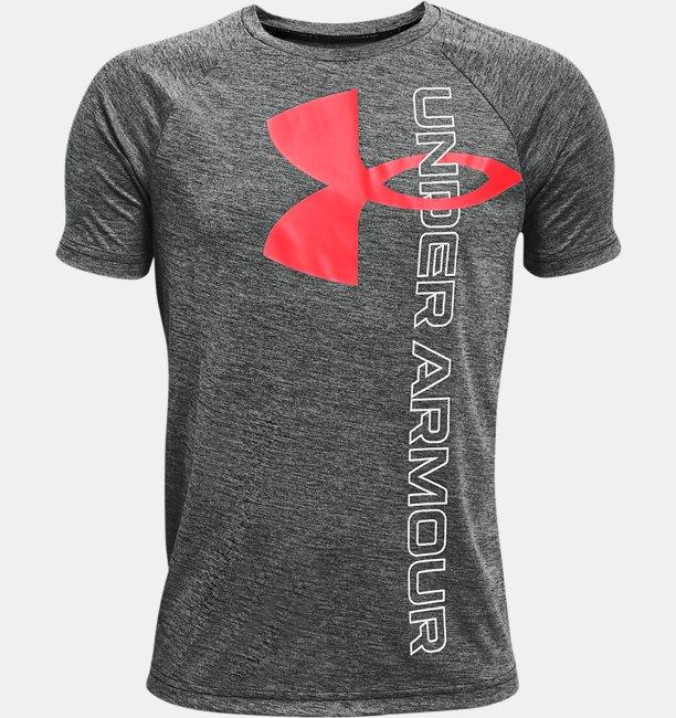 Boys' UA Tech™ Split Logo Hybrid Short Sleeve