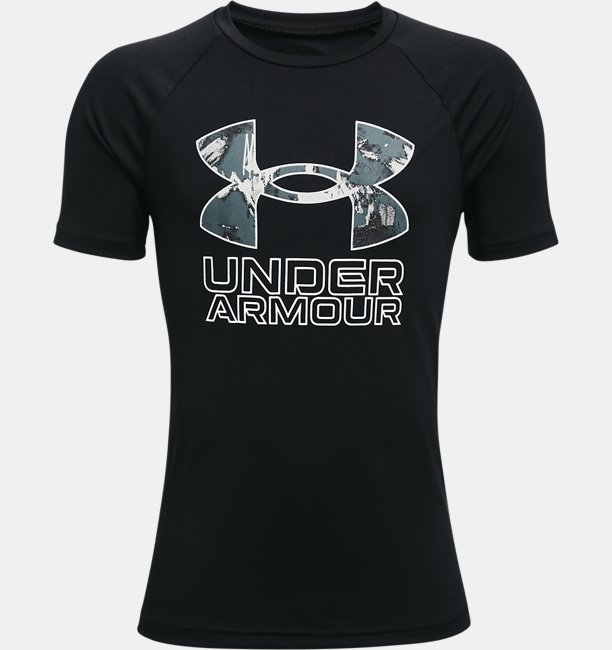 Boys UA Tech™ Hybrid Print Fill Short Sleeve