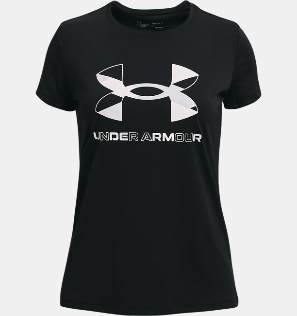 Girls UA Tech™ Graphic Big Logo Short Sleeve