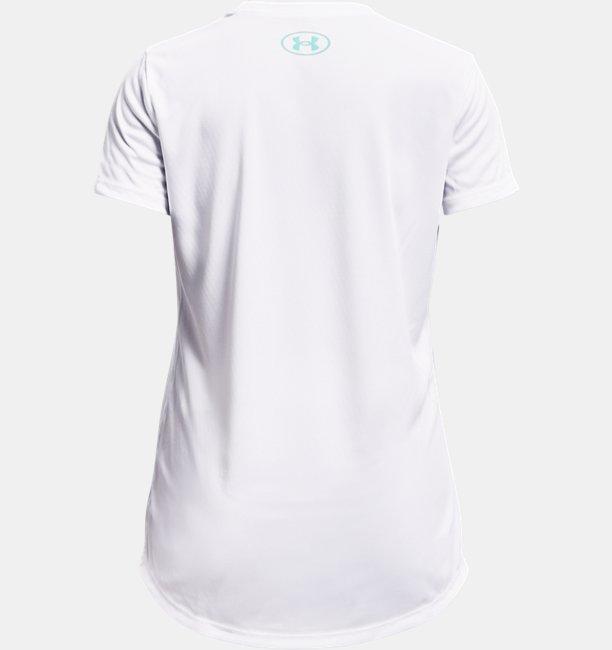 Girls UA Tech™ Big Logo Print Fill Short Sleeve