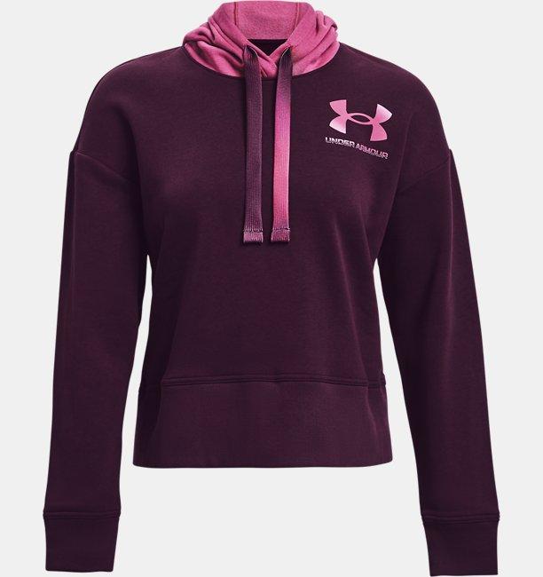 Womens UA Rival Fleece Gradient Hoodie