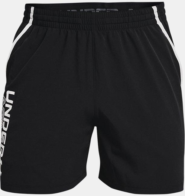 Mens UA Qualifier 5 Wordmark Shorts