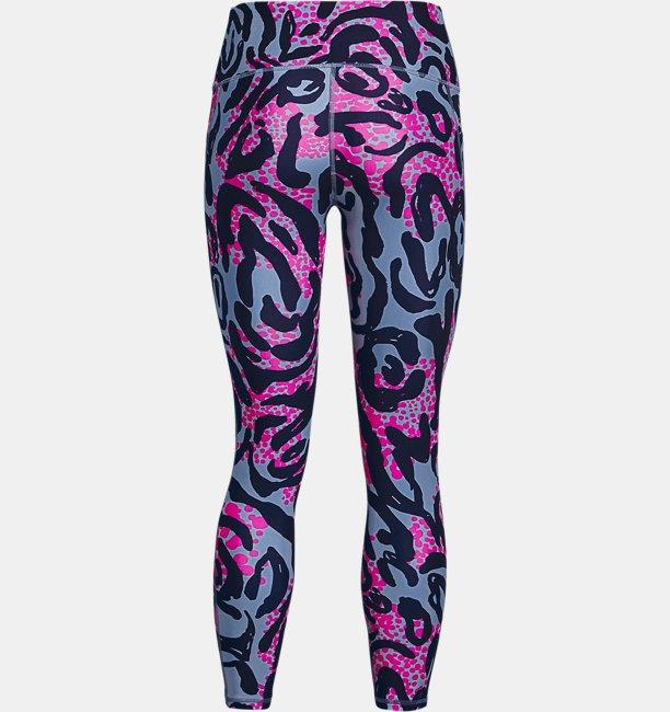 Womens HeatGear® Armour No-Slip Waistband Printed Ankle Leggings