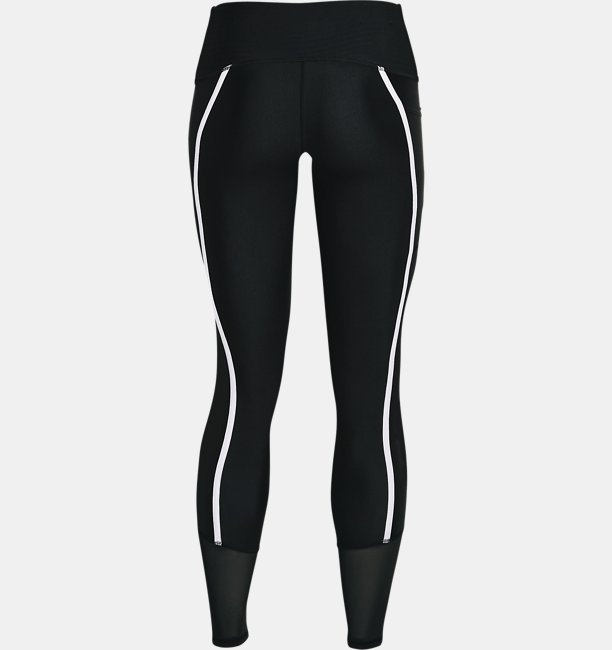 Womens HeatGear® Armour No-Slip Waistband Shine Mesh Full-Length Leggings