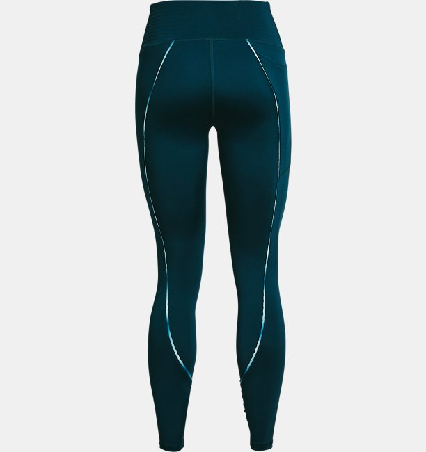 Womens UA RUSH™ No-Slip Waistband Scallop Full-Length Leggings