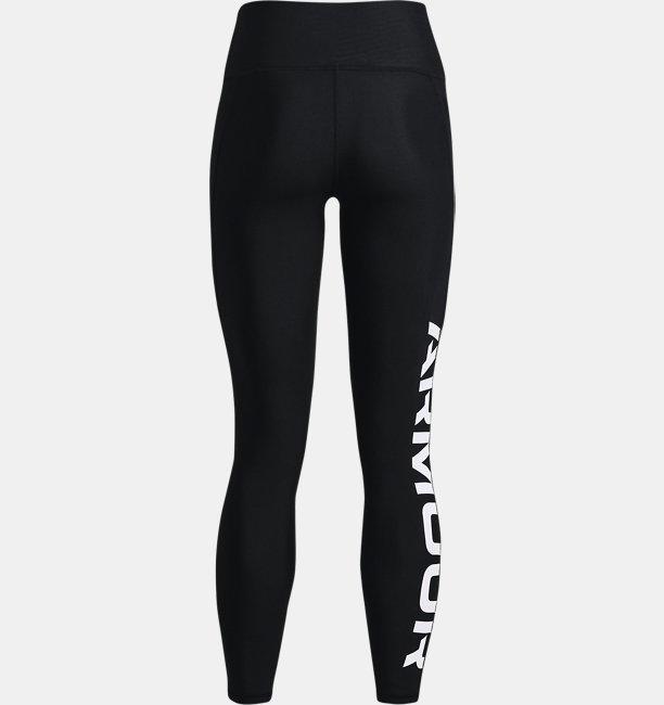 Womens HeatGear® Armour No-Slip Waistband Branded Full-Length Leggings