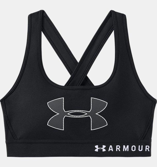 【アウトレット】UAクロスバックブラグラフィック(ミディアムサポート/スポーツブラ/トレーニング/WOMEN)
