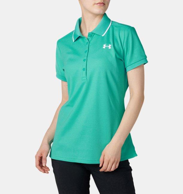 【アウトレット】UAバニッシュピケポロ(ゴルフ/WOMEN)