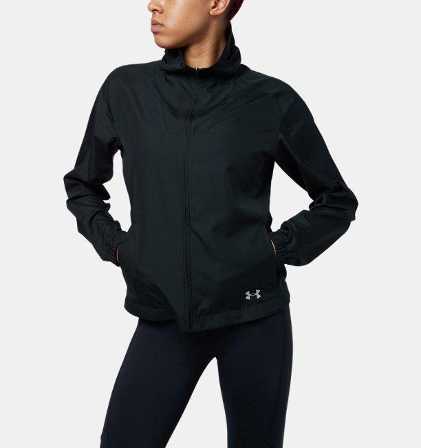 【アウトレット】UAプリントウーブンフルジップジャケット(トレーニング/WOMEN)