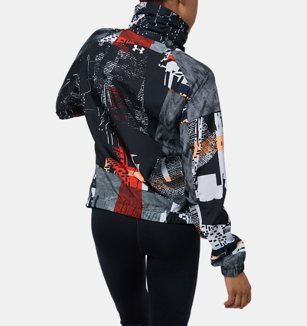 【アウトレット】UAプリントウーブンフルジップジャケット(WOMEN)