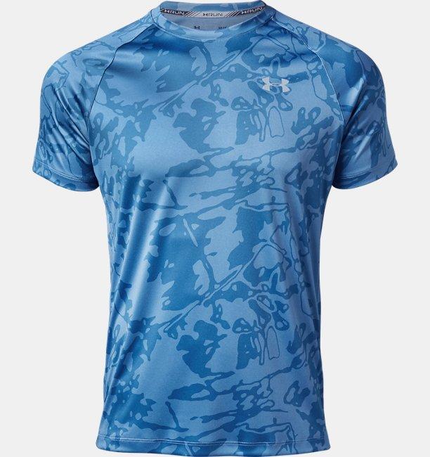 【アウトレット】UAスピードストライド プリント ショートスリーブ(ランニング/Tシャツ/MEN)