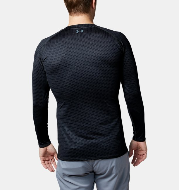 UA HG Fitted LS V-Neck NV