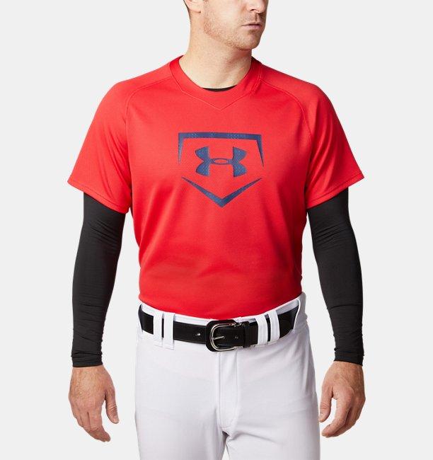 【アウトレット】UAビッグロゴ ベースボール シャツ(ベースボール/MEN)