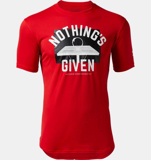【アウトレット】UAテック Tシャツ 〈NOTHINGS GIVEN〉(バスケットボール/MEN)