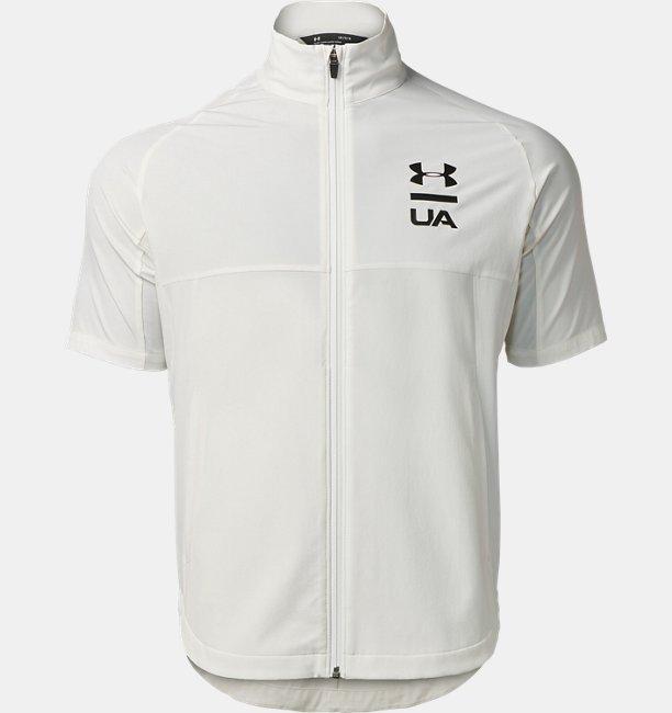 【アウトレット】UAサマーウーブン フルジップ ショートスリーブ ジャケット(トレーニング/MEN)