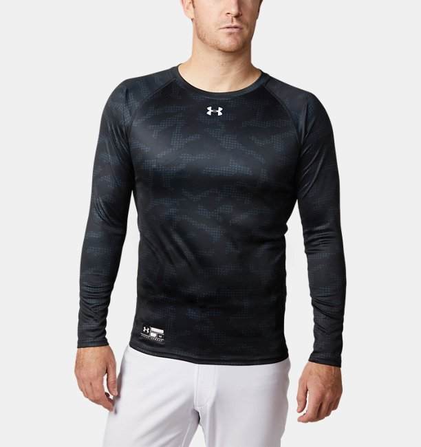 UA Speed Tech Fitted Camo LS Crew