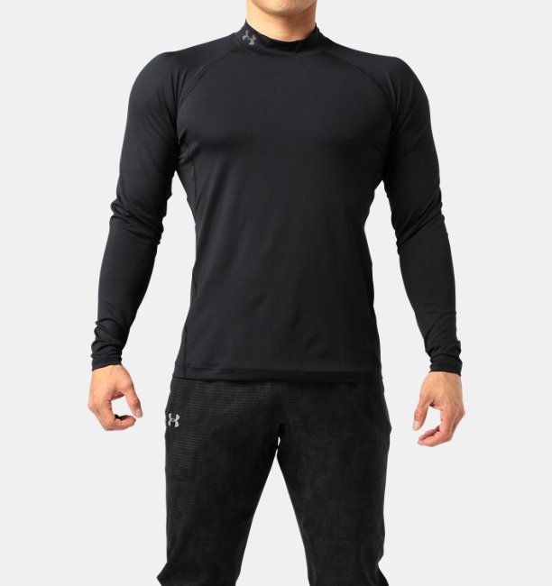 UA HG Fitted LS Mock