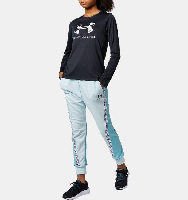 UAテック グラフィック ビッグロゴ ロングスリーブ Tシャツ(トレーニング/GIRLS)
