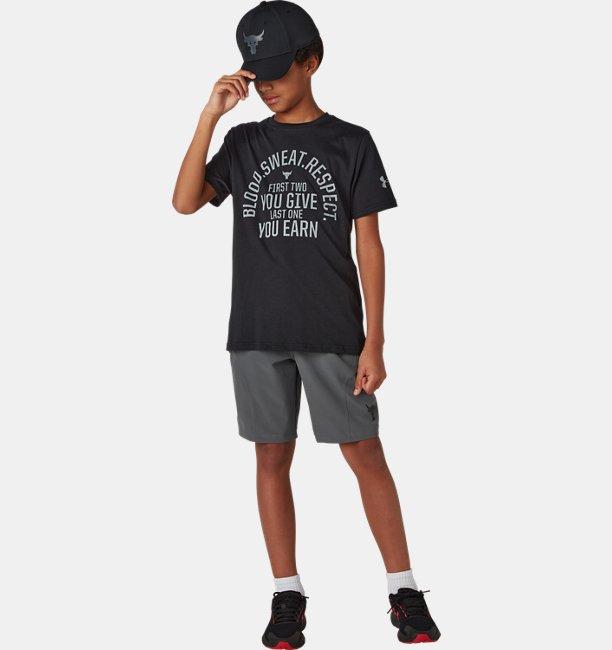 Boys Project Rock Blood Sweat Respect Short Sleeve