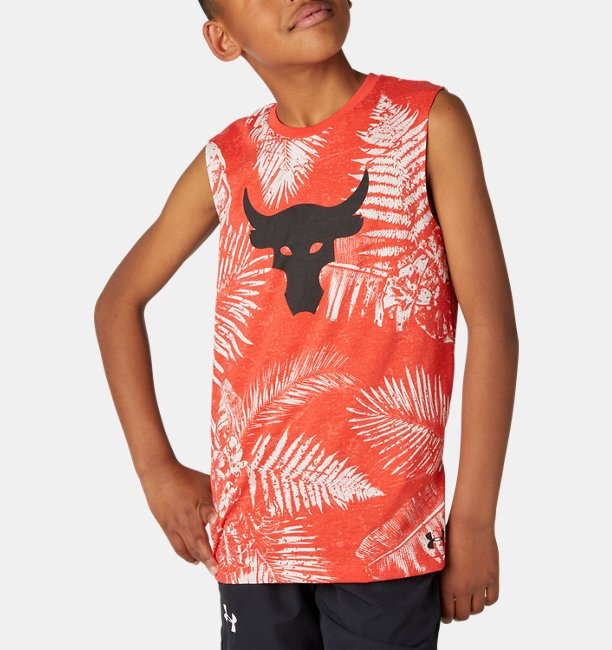 UA PROJECT ROCK カモ タンク<Brama Bull Aloha>(トレーニング/BOYS)