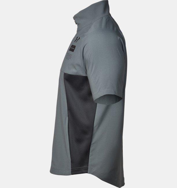 UAサマーウーブン ショートスリーブ フルジップ(トレーニング/MEN)