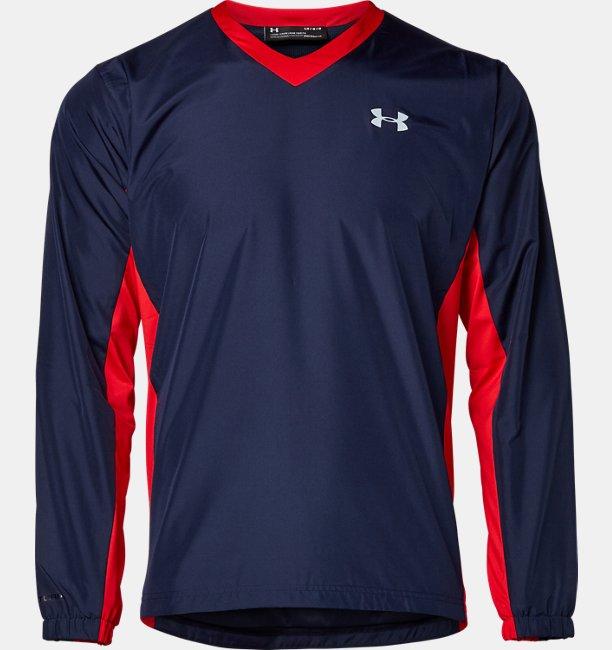 UA Vネック メッシュ ジャケット(ベースボール/MEN)
