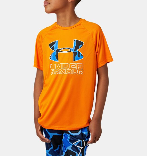 Boys UA Tech™ Hybrid Print Fill Logo T-Shirt