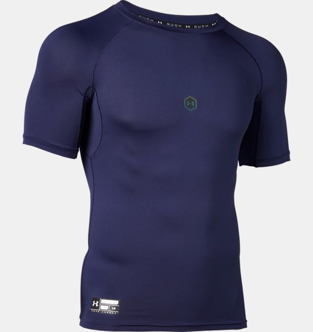 UA Rush HeatGear Armour Compression SS Crew