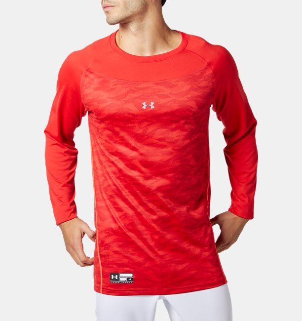 UA Tech Fitted Long Sleeve Crew Shirts Graphic