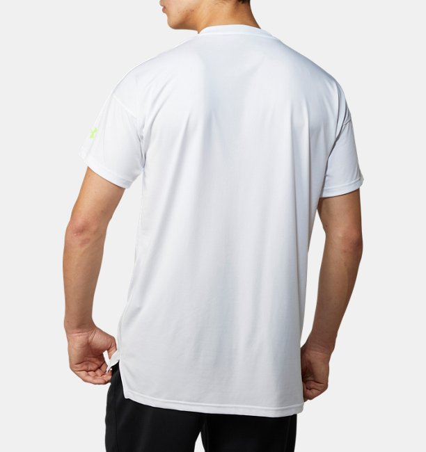 UAテック ショートスリーブ ライン テキスト シャツ(ベースボール/MEN)