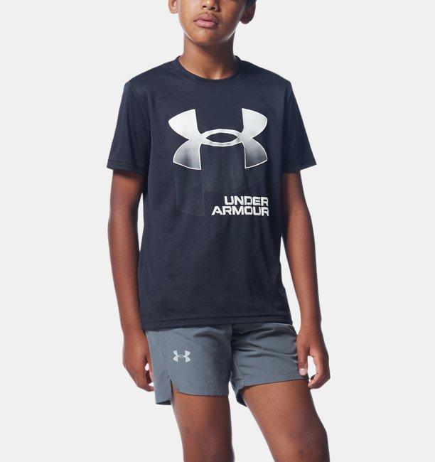 Boys UA Tech™ Symbol Stripe Fade Short Sleeve
