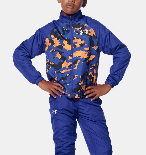 UAトリコット ライン ウーブン ジャケット(トレーニング/BOYS)