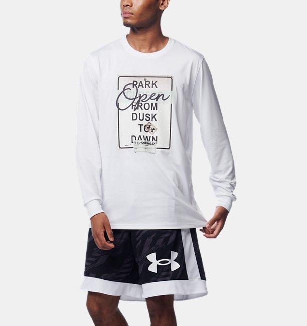 UAテック パーク オープン ロングスリーブ Tシャツ(バスケットボール/MEN)