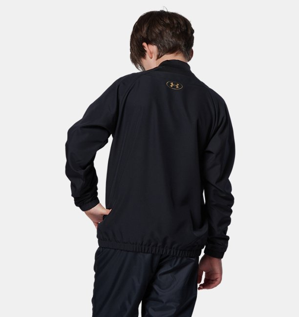 UA Baseball Youth Woven Vneck Jacket