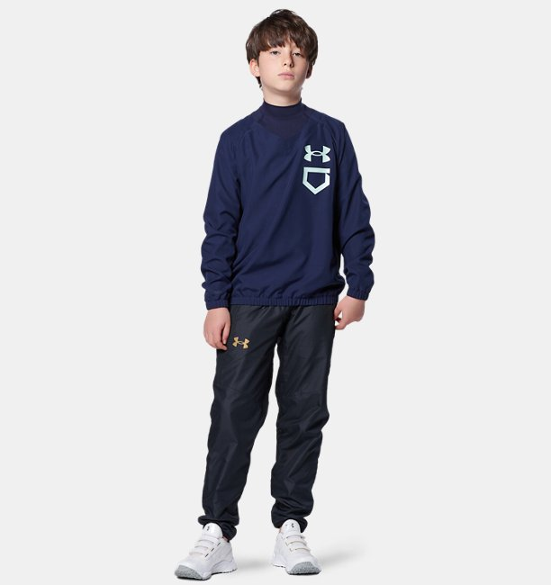 UA Baseball Youth Woven Vneck Jacket