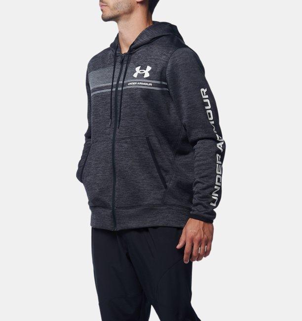 【アウトレット】UAアーマーフリース バー ロゴ ツイスト フルジップ(トレーニング/MEN)