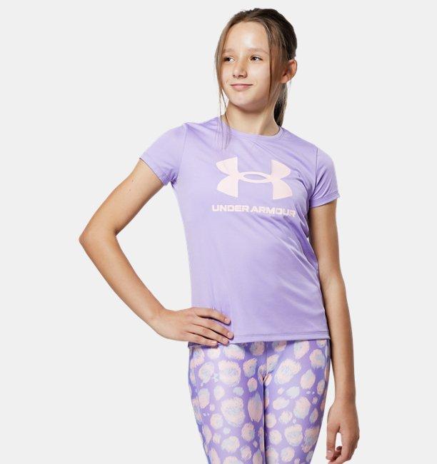 UAテック スポーツスタイル ビッグロゴ ショートスリーブ(トレーニング/GIRLS)