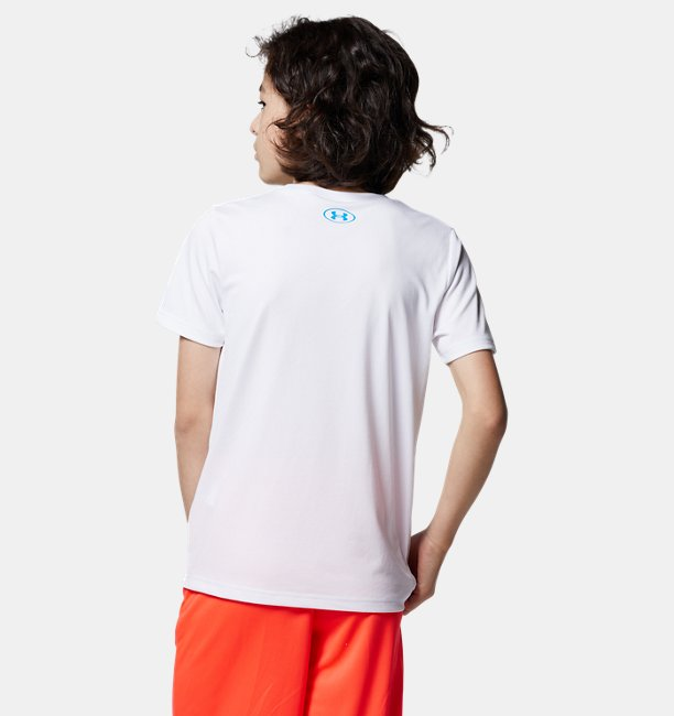 UAテック プリント ロゴ ショートスリーブ(トレーニング/BOYS)