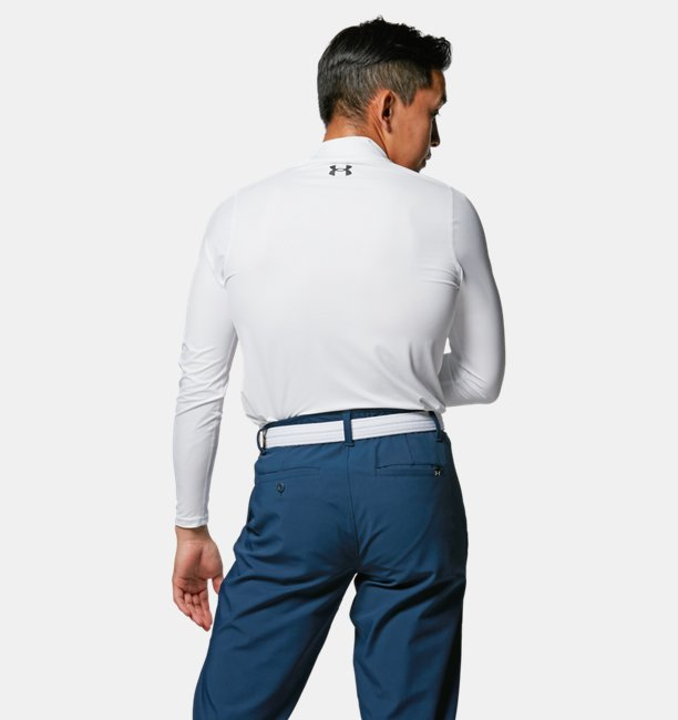 UAアイソチル フィッティド ロングスリーブ モック(ゴルフ/MEN)
