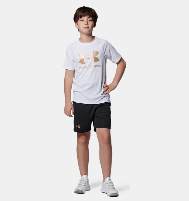 UAユース テック ショートスリーブ ベースボール ロゴ シャツ(ベースボール/BOYS)
