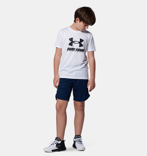 UAユース テック ビックロゴ Tシャツ(バスケットボール/BOYS)
