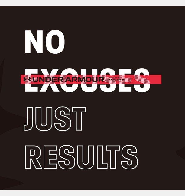 UA NO EXCUSES JUST RESULTS Tシャツ(トレーニング/MEN)