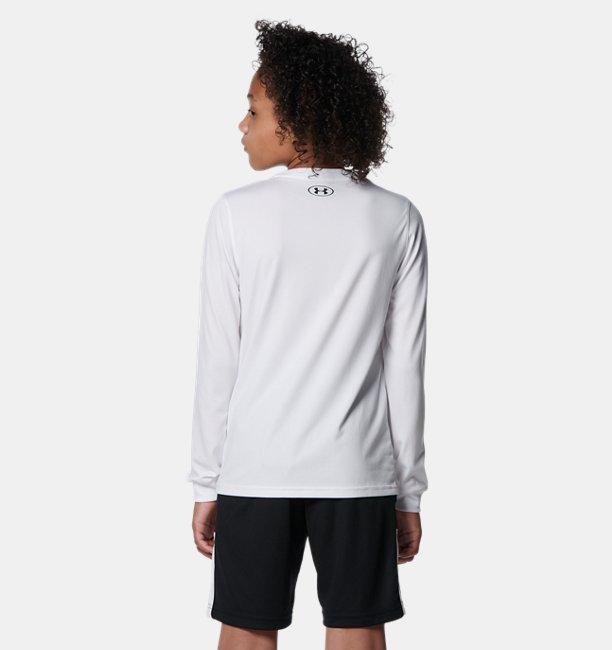 UAテック ロングスリーブ Tシャツ ロゴ(バスケットボール/KIDS)
