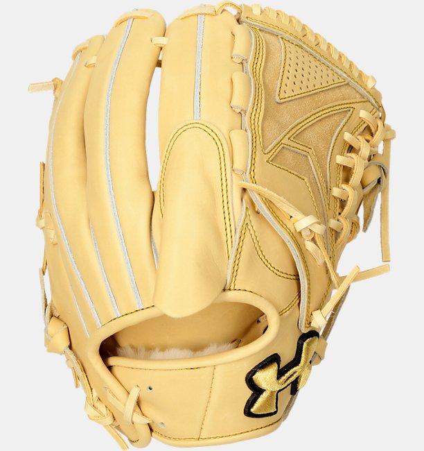 UA HB Pitcher Glove R Camel LT